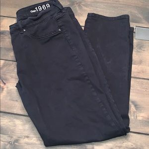 Gap 1969 Black Jeans 29 6 Skinny Stretch